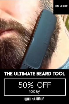 First 50 purchases get extra 10 off single braids videos fix your messy beard in seconds Beard Styles For Men, Hair And Beard Styles, Short Hair Styles, Beauty Skin, Hair Beauty, Beard Straightening, Beard Grooming, Grooming Kit, Beard Care
