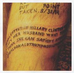 Tweets polêmicos que famosos apagaram são eternizados como tatuagens no corpo de artista