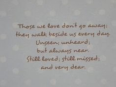 sympathy card or great quote for a heritage scrapbook page.