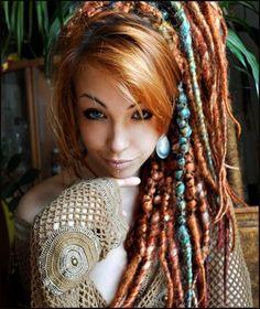 beautiful creative dreadlocks hairstyles for women hairstyle for Hippie Dreads, Dreadlocks Girl, Hippie Hair, Dreads Women, Wool Dreads, Bohemian Hairstyles, Dreadlock Hairstyles, Funky Hairstyles, Headband Hairstyles