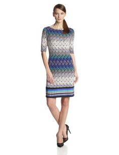 Jessica Howard Women's Elbow Sleeve Shift Dress - List price: $89.99 Price: $48.30 Saving: $41.69 (46%)