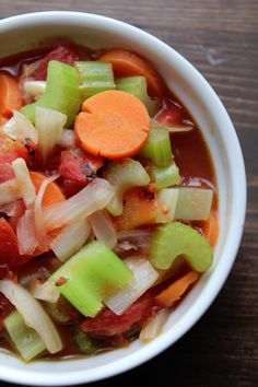 Weight Watchers Vegetable Soup from the #SimpleStart plan. #ad