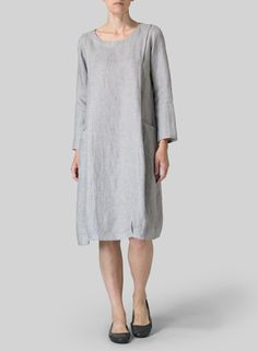 Linen Luxe Pocketed Dress