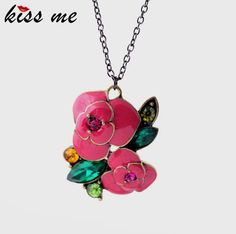 Fashion glaze rose women's design long necklace Like and Share if you want thisGet it here ---> www.servjewelry.c... #shop #beauty #Woman's fashion #Products #homemade