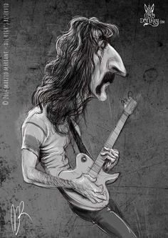 Frank Zappa caricature by Marzio Mariani (All Rights Reserved) #Celebrity #Caricatures #Oddonkey #frankzappa