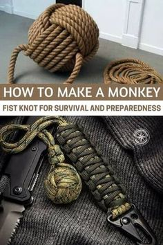 """How to tie a monkey fist for survival and readiness Paracord Monkey Fist keychainParacord Monkey Faust KeychainParacord Lovers / ■ Monky Fist Knot """"Yuru .Paracord lovers: ■ Make a """"loose"""" bracelet with monky fist knots, Monkey Fist Keychain, Paracord Monkey Fist, Paracord Braids, How To Braid Paracord, Monkey Fist Knot, Survival Knots, Paracord Keychain, Rope Knots, Paracord Projects"""