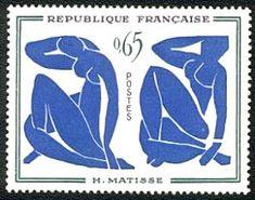 Henri Matisse - «Les nus bleus» - Timbre de 1961