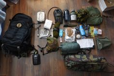Interesting Loadout Here is quite a nice bag dump of a 36 hour kit. abolish-me: Kitlist as follows… 5.11 Rush 72 pack. Hexamine cooker and mess tins. Camelbak 1.5l bladder Nalgene 1l bottle Dutch army canteen (pouch attached to belt on pack) Shemagh Poncho. Light my fire titanium spork Loo roll and newspaper Skivvy roll Hand tissues, sanitiser, lighter. Mora Companion stainless British Army 24hr ration pack. Chemical hand-warmer, string, sun-lotion. Petzl Tikka. Lifesystems chlorine tablets…