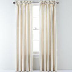 Sutton Place Antique Satin Rod Pocket Curtain Panel