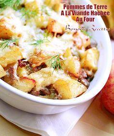 Pommes de terre au four a la viande hachee
