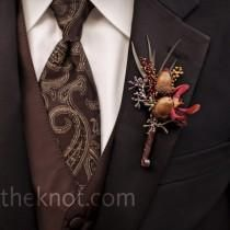 fall grooms attire | this groom donned Wedding Buttons instead of the traditional ...