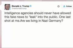 Trump tweets: 'Are we living in Nazi...