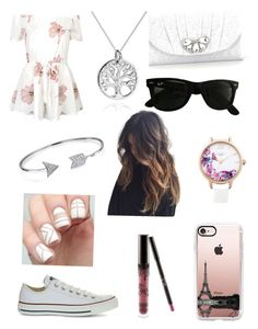 """""""Casual"""" by gervaise-kelly on Polyvore featuring WithChic, Converse, Kate Landry, Casetify, Lipsy, AeraVida, Bling Jewelry, Kylie Cosmetics and Ray-Ban"""
