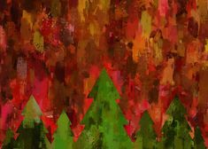 """Christmas Trees Greeting Card 