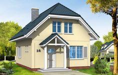 Projekt domu Adaś - wizualizacja frontu
