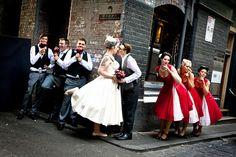 I think I may need a picture like this from our wedding. Cute!