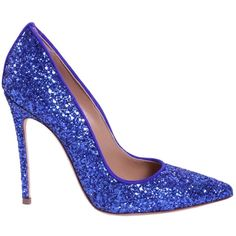 Glitter Pump (2.040 DKK) ❤ liked on Polyvore featuring shoes, pumps, blu, glitter pumps, leather sole shoes, leather shoes, dsquared2 shoes and leather footwear