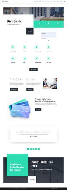 Bank Landing Page - Wordpress Themes - Turkish Corporate Website Design, Business Web Design, Ecommerce Web Design, Website Design Layout, Web Layout, Layout Design, Website Designs, Website Ideas, App Design