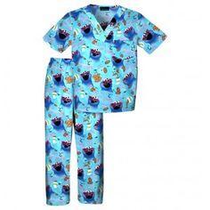 Childrens Nom Nom Cookies Scrub Set - Infinity Scrubs of AR Kid's Scrubs Kids Scrubs, Buy Scrubs, Baby Bug, Scrub Sets, Cherokee, Work Wear, Pajama Pants, Man Shop, Cookie Monster