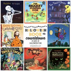 Celebrate 31 days of Halloween with your kids with a Halloween Book Countdown! Easy to put together, and FUN family time! Halloween Books, 31 Days Of Halloween, First Halloween, Halloween Projects, Easy Halloween, Holidays Halloween, Halloween Stories, Preschool Halloween, Preschool Crafts