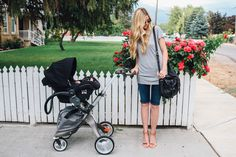 Stokke Xplory stroller with Maxi-Cosi infant car seat via Barefoot Blonde Best Travel Stroller, Amber Fillerup Clark, Barefoot Blonde, Wife And Kids, Baby Planning, Baby Time, Baby Accessories, New Pictures, Baby Strollers