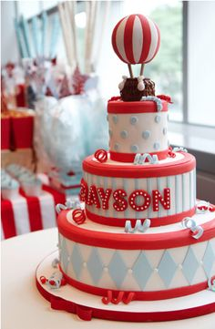 Amazing carnival themed cake