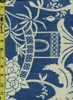 img9637 from LotsOFabric.com! A beautiful chinoiserie toile showing a pagoda print. Order swatches online or shop the Fabric Shack Home Decor collection in Waynesville, Ohio. #drapery #bedding #upholstery #furniture #inspo #interiordesign