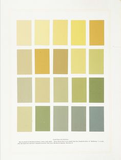 Interior paint colours from the book 'Homebuilding and Decoration' 1903