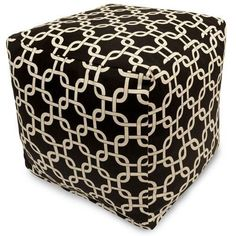 Majestic Home Goods 85907210102 Black Links Small Cube