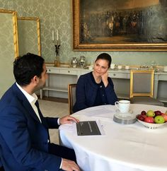 5 June 2017 - Crown Princess Victoria meets the a Minister of Public Administration