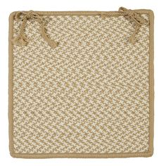Outdoor Houndstooth Tweed Chair Pad (Set of 4)