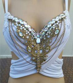 Glam Greek Goddess Design Custom Bra Costume by cRaveCreationsPLUR