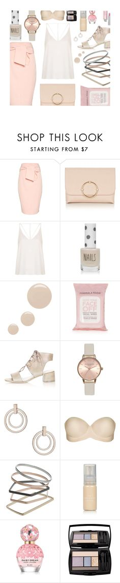 """""""Untitled #376"""" by mlka ❤ liked on Polyvore featuring Topshop, Marc Jacobs and Lancôme"""