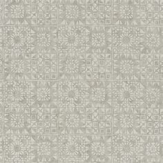 Serego Wallpaper A silver and beige block printed abstract vinyl wallcovering with an antique air, complemented by the textured ground.