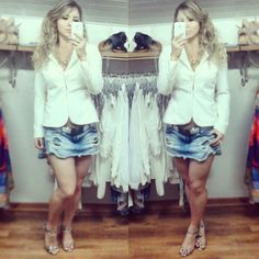 Look blazer + short saia!