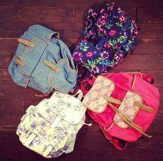 Floral backpacks