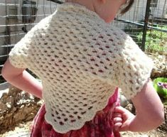 Copper Llama Studio: Crochet Shrug PDF PATTERN Instructions include sizes for 1yr olds to Small Adult