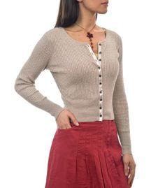 Grey Silk-Cotton Cable Cardigan