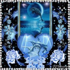"""dolphin animated glitter graphics 