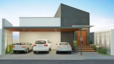 Steel Stair Railing, Steel Stairs, Car Porch Design, Modern Carport, Car Shed, Narrow House Plans, Double Storey House, Carport Designs, Bedroom Wall Designs
