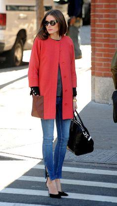 Olivia Palermo: fotos look casual chic por el Soho neoyorkino Style Désinvolte Chic, Style Work, Look Chic, Mode Style, Her Style, Fashion Mode, Cute Fashion, Fashion Trends, Street Fashion