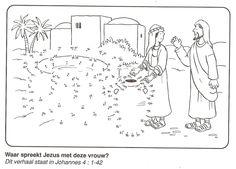 waar spreekt Jezus met deze vrouw ? put van stip naar stip
