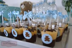 A beleza está em cada detalhe... Baby Shower Cakes, Baby Shower Treats, Boy Baby Shower Themes, Baby Boy Shower, Moldes Para Baby Shower, Mesas Para Baby Shower, Teddy Bear Party, Teddy Bear Baby Shower, Shower Party