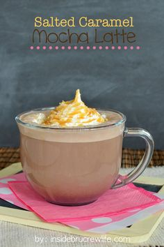 Salted Caramel Mocha Latte - save yourself some money and try this copycat drink recipe in your own kitchen