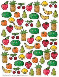 Find, Tally and Graph- Fruit