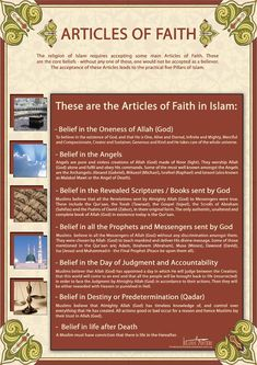Articles of Faith in Islam by billax on deviantART