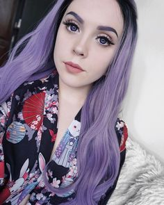 Check out the black synthetic braided wig rocked by sweet babe ombre purple lace front wigs dark roots long wavy synthetic wigs for white women fandeluxe Gallery