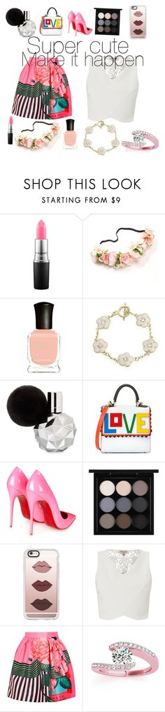 """Cuteness"" by richard-causey ❤ liked on Polyvore featuring beauty, MAC Cosmetics, Deborah Lippmann, Bling Jewelry, Les Petits Joueurs, Christian Louboutin, Casetify, Lipsy, Mary Katrantzou and Allurez"