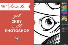 Illustrator Dave Habben taught us how to illustrate awesomely in Photoshop with his last post. Now he gets inky with it, giving us the skinny on using Photoshop's brush tool. Photoshop For Photographers, Photoshop Tips, Photoshop Photography, Photoshop Tutorial, Photography Tutorials, Graphic Design Tutorials, Art Tutorials, Painting Tutorials, Drawing Tutorials