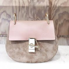 chloe blush bag with two tone colors